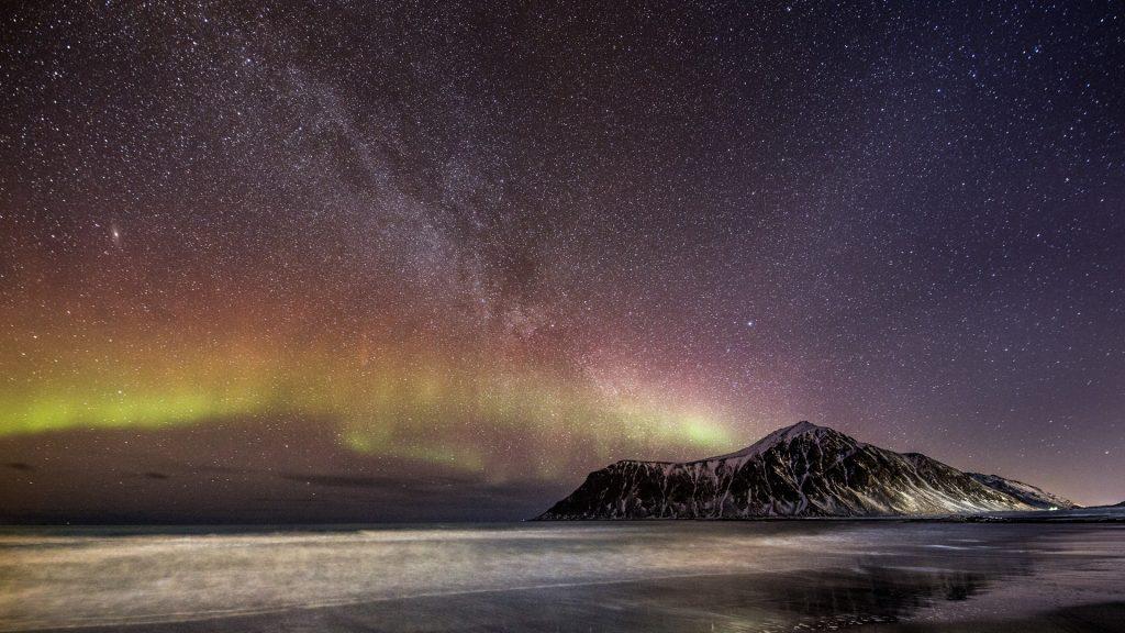 Sarki fény. Norvégia, Lofoten